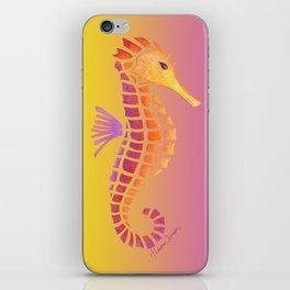 Sunset Seahorse iPhone Skin