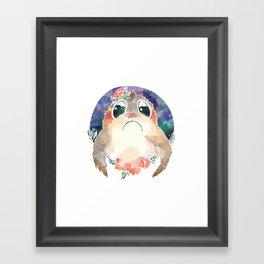 Eat chicken, cuddle Porg Framed Art Print