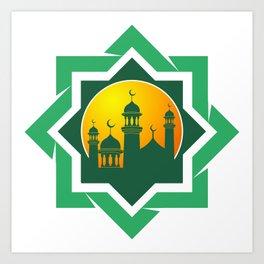 Symbol of Muslim Art Print
