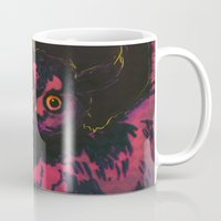 wings Mugs featuring WINGS by Galvanise The Dog