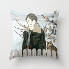 Early Spring Walk Throw Pillow