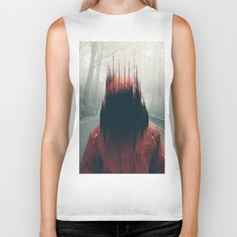 Face into the Abyss Biker Tank