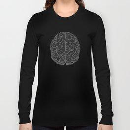 Brain vintage illustration Long Sleeve T-shirt