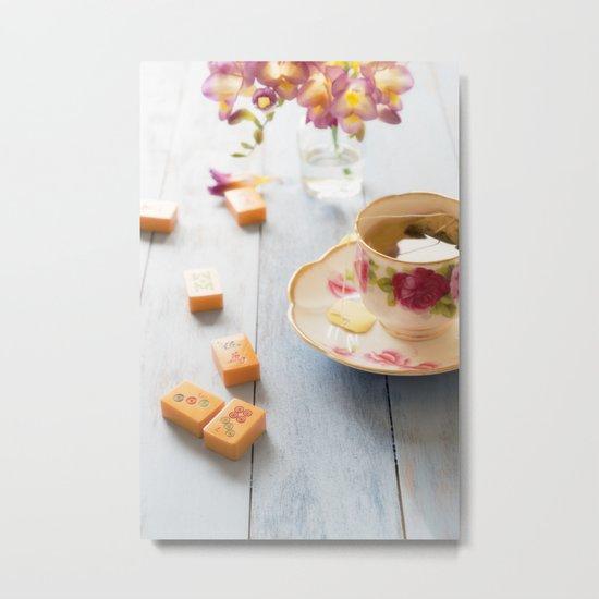 Tea and Mahjong  Metal Print