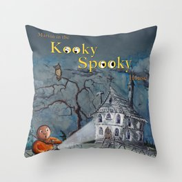 Marvin in the Kooky Spooky House Throw Pillow