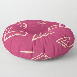 Abstract Carpenter Tool Pattern Floor Pillow