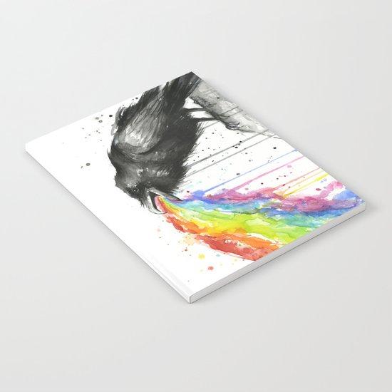 Raven Tastes the Rainbow Notebook