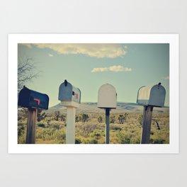 Send me a letter Art Print