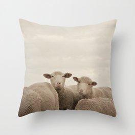Smiling Sheep  Throw Pillow