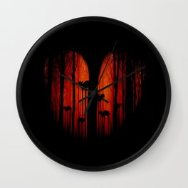 Strange forest Wall Clock