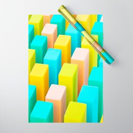 Color Blocking Pastels Wrapping Paper