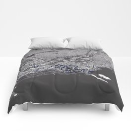 Chicago City Map I Comforters