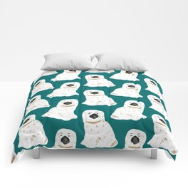 Staffordshire Dog Figurines No. 1 in Emerald Comforters