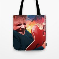 marty mcfly Tote Bags featuring Marty McFly by Stephanie Keir