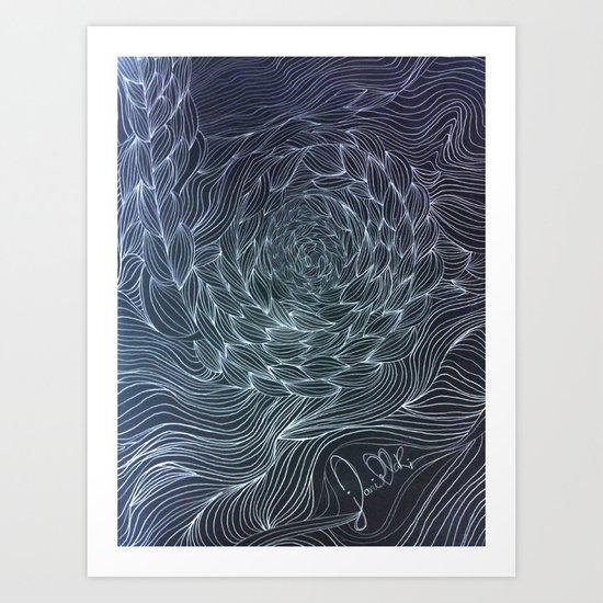 Deep lines Art Print