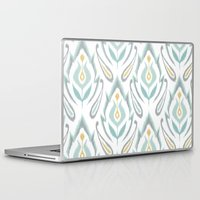 ikat Laptop & iPad Skins featuring Soft Ikat by Patty Sloniger