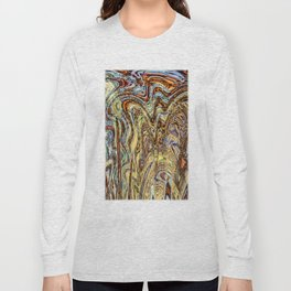Scramble - Digital Abstract Expressionism Long Sleeve T-shirt