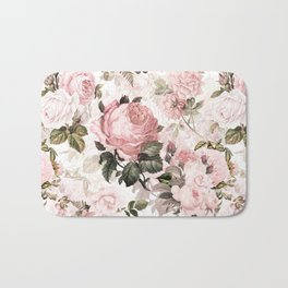 Vintage & Shabby Chic - Sepia Pink Roses  Bath Mat