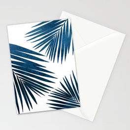 Indigo Palm Fronds Stationery Cards