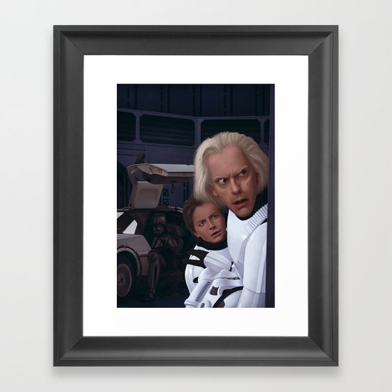 I Find Your Lack Of Jiggawatts Disturbing Framed Art Print