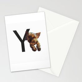 Y is for Yorkshire Terrier Dog Stationery Cards