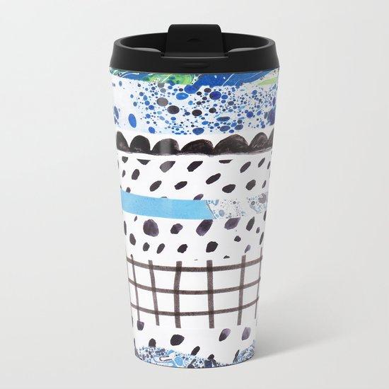 Abstract shapes Metal Travel Mug