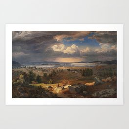 Lund, Bernt (1812-1885) View of Christiania from Sinsenbakken 1846 (1846) Art Print