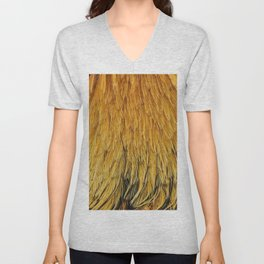 Fancy Rooster Feathers Unisex V-Neck