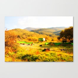 Tilt Shift Trailer Canvas Print