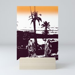 Goa palm trees Mini Art Print