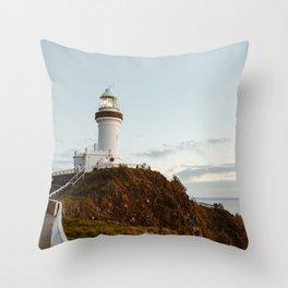 Byron Bay Lighthouse Throw Pillow