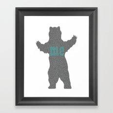 bear me Framed Art Print