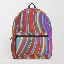 Wild Wavy Lines I Backpack