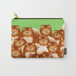 Pomeranians (Green Background) Carry-All Pouch