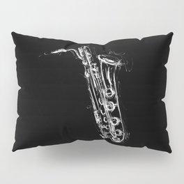 Baritone Saxophone Pillow Sham