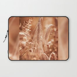 Golden old withered cereal ear grow Laptop Sleeve
