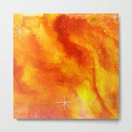 Orange Galaxy Metal Print