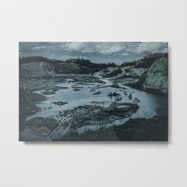Quarry After Rain Waldhuegel Rheine Germany dark Metal Print