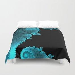 Black Ice - Fractal Art Duvet Cover