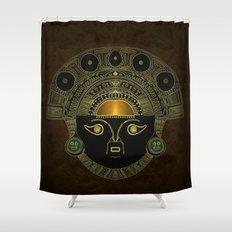 God Sun mask (INTI) Shower Curtain