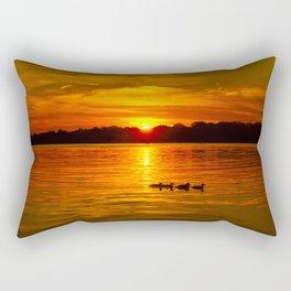 Ducks in a Row Rectangular Pillow