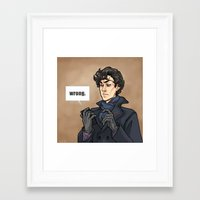 daunt Framed Art Prints featuring WRONG. by Daunt