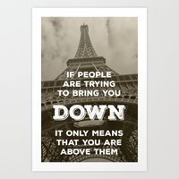 eiffel tower Art Prints featuring Eiffel tower by Solar Designs