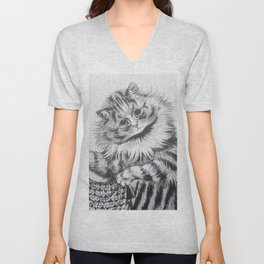 Louis Wain - Cat Portrait Unisex V-Neck