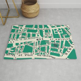 PARIS MAP GREEN Rug