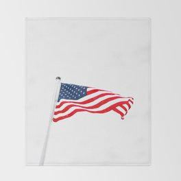 The American Flag (Color) Throw Blanket