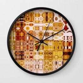 Amber Gypsy Mosaic | Retro Abstract | Nadia Bonello | Canada Wall Clock