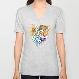 Jaguar Head Portrait Unisex V-Neck