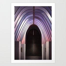 Arquitectura en rosa Art Print