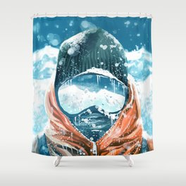 climber in the everest Shower Curtain